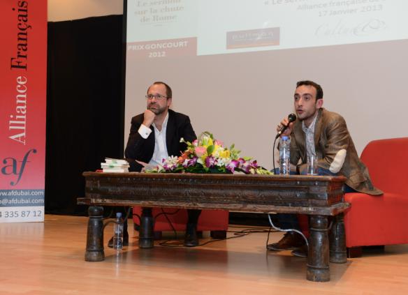 En conference avec le Prix Goncourt 2012, Jerome Ferrari.